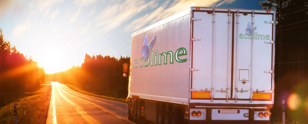 Eco Lime Delivery Truck